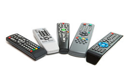 TV remote isolated Stock Image
