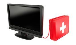 TV repair. Technical service concept Royalty Free Stock Photos
