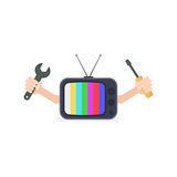 Tv repair icon Stock Images
