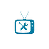 Tv repair icon Royalty Free Stock Photo