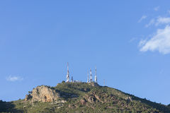 TV repeater. Television repeater on top of a mountain Stock Images
