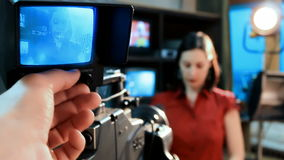 TV Reporter Interviews stock video footage