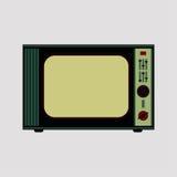 TV retra en fondo del grunge ilustración del vector