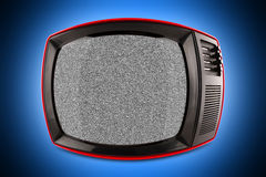 TV retra roja foto de archivo libre de regalías