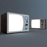 TV retra vieja Imágenes de archivo libres de regalías