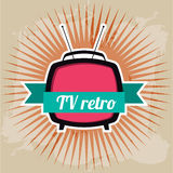Tv retro Stock Photography