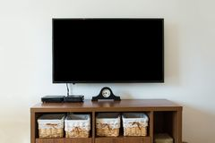 TV in a retro interior. minimalistic design royalty free stock photo