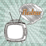 Tv retro Royalty Free Stock Photo
