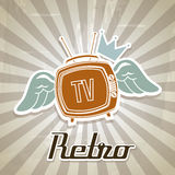 Tv retro Royalty Free Stock Images