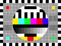 TV retro screen - vector file added Stock Photography
