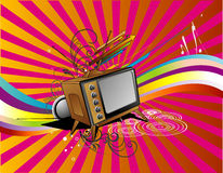 Tv retro vector Stock Photography