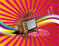 Tv retro vector Stock Photography