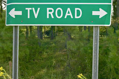 TV Road Sign in Georgia Royalty Free Stock Photography