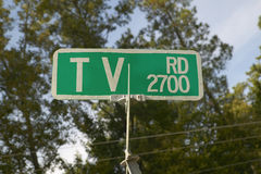 TV Road Sign in Georgia Royalty Free Stock Photos