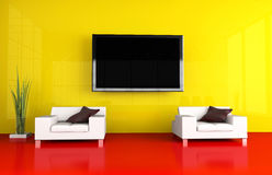Tv room Royalty Free Stock Image