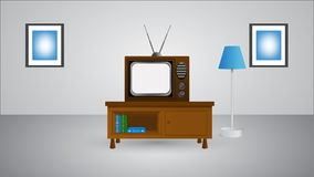 Tv in room  illustration eps 10 Stock Photography
