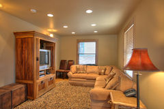 TV room in a nice home Stock Images