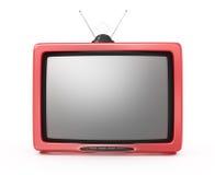 TV rossa Immagini Stock