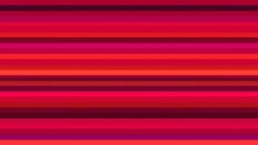 TV-sändning som blinkar horisontalhigh techstänger, rött som är abstrakta, Loopable, 4K stock illustrationer
