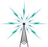 TV-sändningtorn Royaltyfri Bild