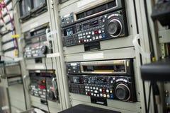 TV-sändningvcr-registreringsapparat royaltyfria bilder