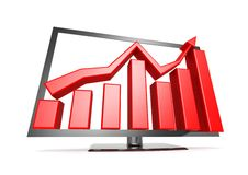 TV sales graph Royalty Free Stock Image