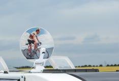 TV Satellite Antenna - Tour de France 2015 Stock Images