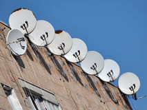TV satellite dishes Stock Photography