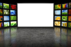 Tv screeen with images Stock Image