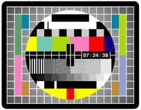 Tv Screen. For those who remembers what hapens when the channel was having problems stock illustration