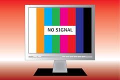 Tv screen. No signal on a TV screen Stock Photography