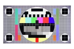 Free TV Screen Color Test Card No Signal Stock Image - 160031191