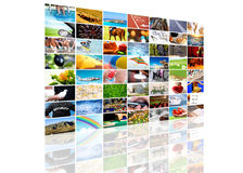 Tv screen composition stock image