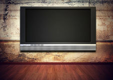 Tv screen grunge interior Royalty Free Stock Photos