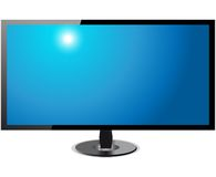 TV Screen hd- Isolated On White Background Royalty Free Stock Images