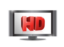 Tv screen. . with a hd screen. illustration design Stock Image