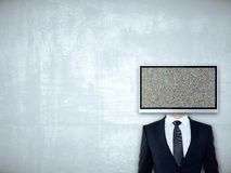 TV screen headed businessperson Royalty Free Stock Photography