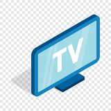 TV screen isometric icon. 3d on a transparent background vector illustration Royalty Free Stock Photo