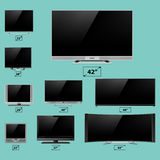 TV screen lcd monitor template electronic device technology digital device display vector illustration. Royalty Free Stock Photo