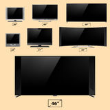 TV screen lcd monitor template electronic device technology digital device display vector illustration. Stock Images