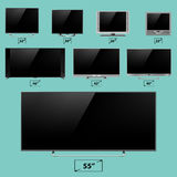 TV screen lcd monitor template electronic device technology digital device display vector illustration. Stock Photo