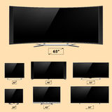 TV screen lcd monitor template electronic device technology digital device display vector illustration. Stock Photography