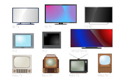TV screen lcd monitor template electronic device technology digital size diagonal display and video modern plasma home Royalty Free Stock Image