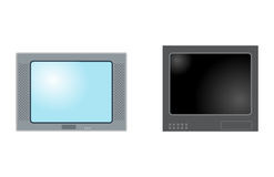 TV screen lcd monitor template electronic device technology digital size diagonal display and video modern plasma home Stock Images