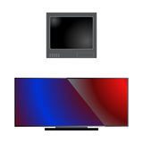TV screen lcd monitor template electronic device technology digital size diagonal display and video modern plasma home Stock Image