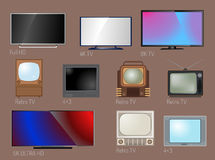 TV screen lcd monitor template electronic device technology digital size diagonal display and video modern plasma home Stock Photo