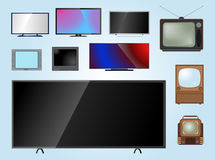 TV screen lcd monitor template electronic device technology digital size diagonal display and video modern plasma home Stock Photos
