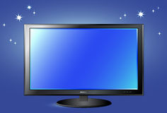TV screen on night sky background Royalty Free Stock Image