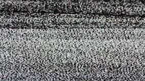 TV screen no signal, static noise and TV static fill the screen (Loop). HD stock footage