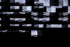 Tv screen with static noise, by bad signal reception Stock Photo